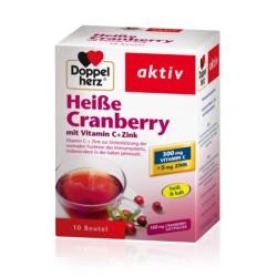 Doppelherz aktiv Brusnica toplo – hladni instant čaj sa Vitaminom C + Cink