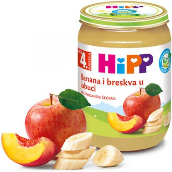 Hipp Banana i breskva u jabuci 190g