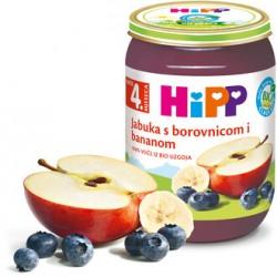 Hipp Borovnice u jabuci 190g
