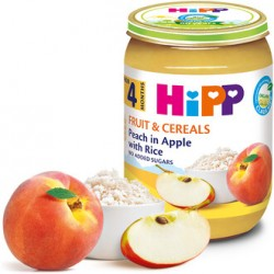 Hipp breskva i jabuka sa rizom 190g