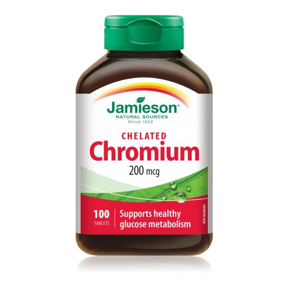 JAMIESON CHROMIUM HELIRANI 200MCG